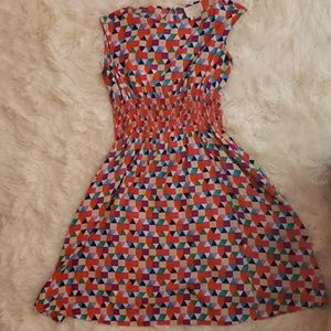 Multicoloured dress with pockets on both sides
